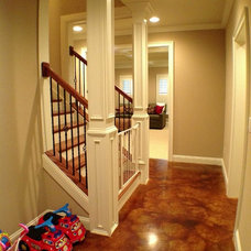 Traditional Basement by The Southern Basement Company