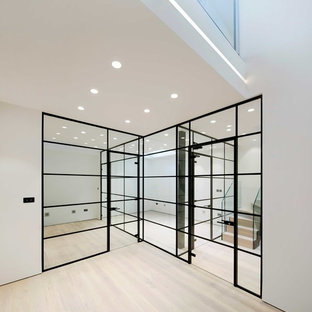 This is an example of a small contemporary fully buried basement in London.