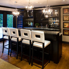 Contemporary Basement by Tavan Developments