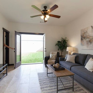 Spanish Mediterranean Style Townhouse in the Heights, Houston, TX - TV Room
