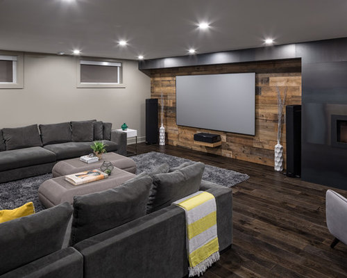 Contemporary Basement Design Ideas, Pictures, Remodel & Decor