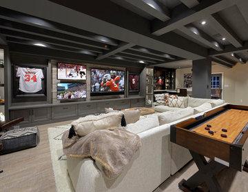 Sports Fan Dream Basement in Northern Virginia