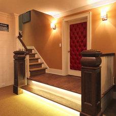 Traditional Basement by Knight Architects LLC