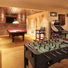 Traditional Basement by Knight Architects LLC