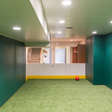 Sports Themed Finished Basement