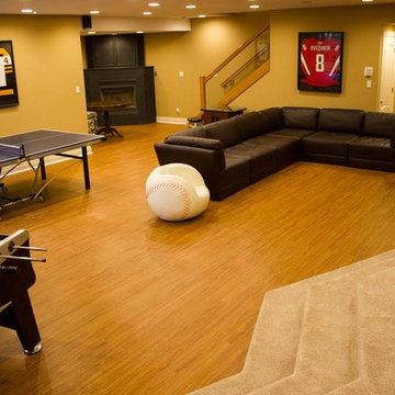 Sports Themed/Game Room Basement
