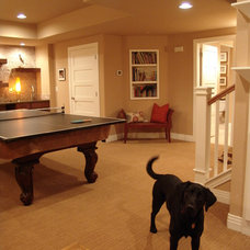 Traditional Basement by Cypress Builders LLC