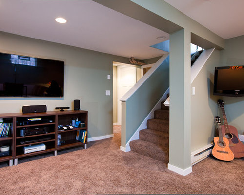 Half Wall Stairs Ideas Pictures Remodel And Decor