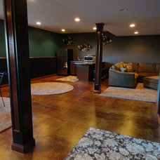 Traditional Basement by Dancer Concrete Design