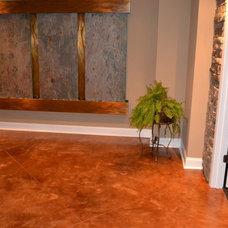 Traditional Flooring by Customcrete, Inc.