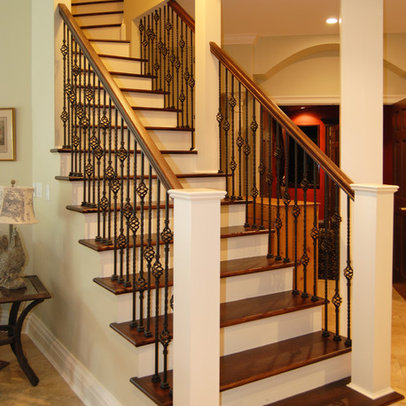 Basement stairs ideas interior design for kitchen for Basement step ideas