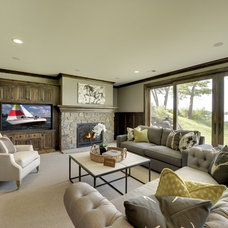 Contemporary Basement by Spacecrafting / Architectural Photography