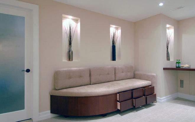 Contemporary Basement by Southam Design Inc