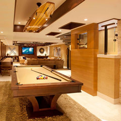 contemporary basement by About:Space, LLC