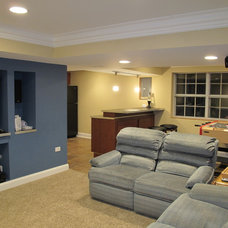 Traditional Basement by AYS Construction Co.