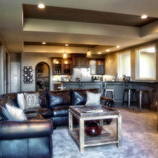 Contemporary Basement by Advanced House Plans