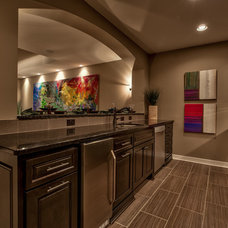 Transitional Basement by Falcone Homes