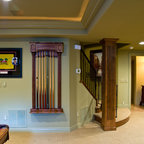 Basement Home Theater And Wet Bar Contemporary