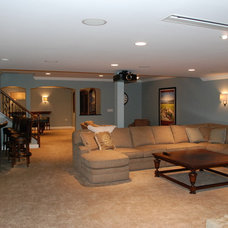 Traditional Basement by Plzak Interiors