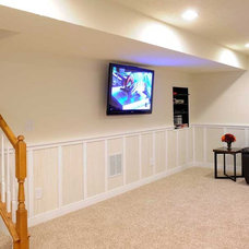 Traditional Basement by Supreme Wainscot