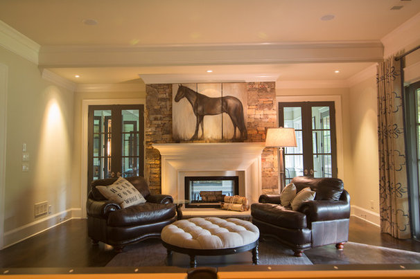 Traditional Basement by Schilling & Company