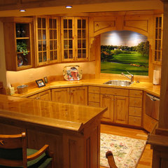 traditional basement by McLean Builders & Remodelers