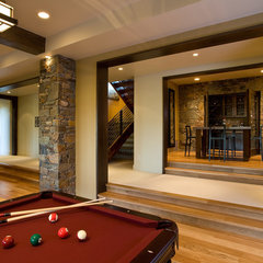 contemporary basement by Phillips Development