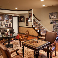 Mediterranean Basement by Romanelli & Hughes Custom Home Builders