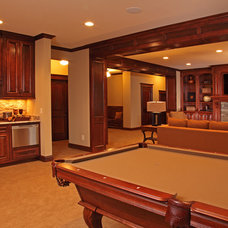 Traditional Basement by TC Homebuilders Inc