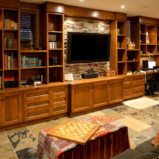 Traditional Basement by Bette Jane Jelly Design