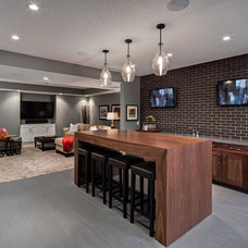 Transitional Basement by Trickle Creek Custom Homes