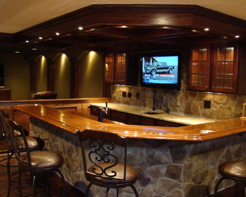 Wood Bar Rail Home Design Ideas Pictures Remodel And Decor