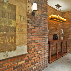 Traditional Basement by Kristi Spouse Interiors