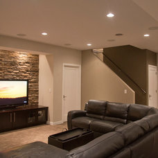 Contemporary Basement by Clark Design Associates, LLC.