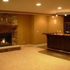 Mediterranean Basement by Otero Signature Homes
