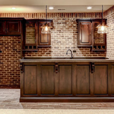 Traditional Basement by Stonecroft Homes