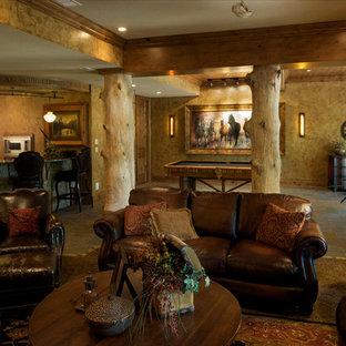 Cette image montre un sous-sol traditionnel.