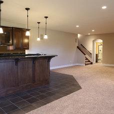 Traditional Basement by Regency Builders Inc.