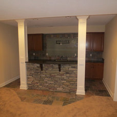 Traditional Basement by legacy homes of medina inc