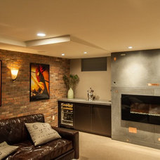 Contemporary Basement by Today's Real Kitchen Design Company