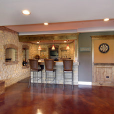Traditional Basement by DJK Custom Homes