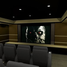 Contemporary Basement by Carolina  Home Theater