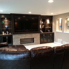 Traditional Basement by Hedlund Building and Remodeling LLC