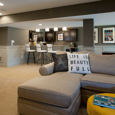 Transitional Basement by W.B. Homes, Inc.