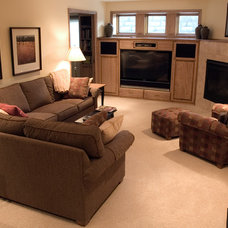 Traditional Basement by Bridgewater