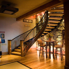 Traditional Basement by Tyner Construction Co Inc