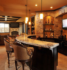 traditional basement by Basements & Beyond
