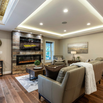 Total Basement Remodel for Refined Entertainment in Gainesville VA