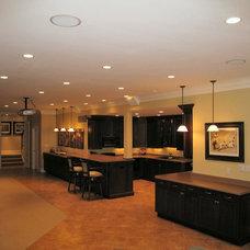 Traditional Basement by Curtiss W. Byrne Architect, LLC