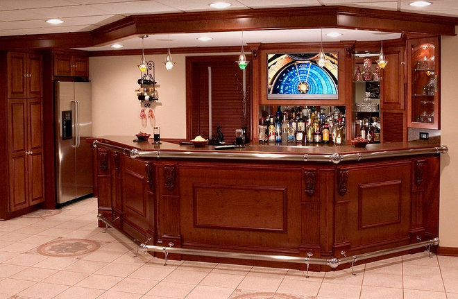 Traditional Basement by Lazzell Design Works